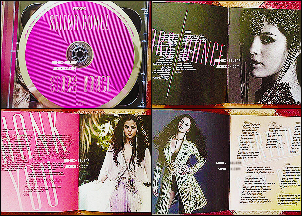 → Découvrez l'intérieur de l'album de Selena qui est intitulé « STARS DANCE » ainsi que le CD L'album tant attendu pour les Selenators sort d'ici le 23 juillet prochain suivi de la sortit du clip de Slow Dow le 24 juillet