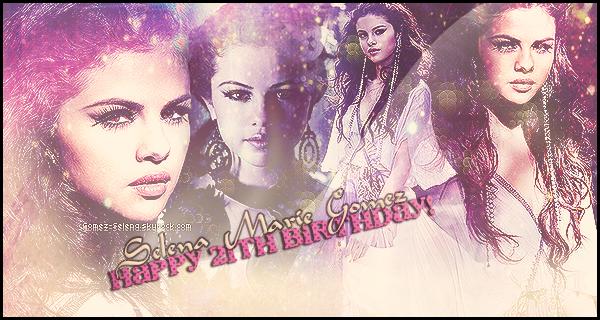 // LES JOURS PASSENT, SELENA GRANDIT ELLE FÊTE AUJOURD'HUI SON 21ÈME ANNIVERSAIRE! ✈۰Notre belle brune pétillante ; Selena souffle aujourd'hui ses vingt-et-une bougies. Je lui souhaites de passer un bonne anniversaire!