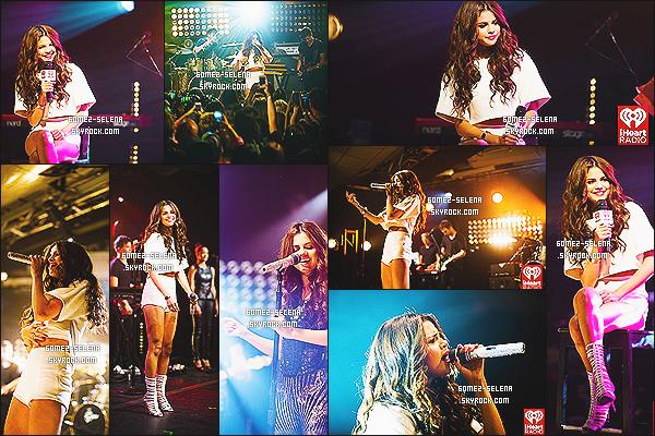 25/07/13 : Selena a été photographié performant sur quelque uns de ses singles « iHeartRadio» à New York !  Je vous ai délivré une vidéo ci-dessous où on l'a voit performé sur quatres titres de son nouvel album Stars Dance, - vos avis ?