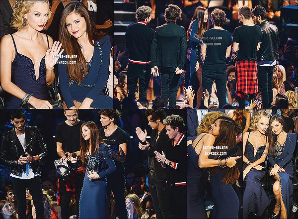 25/08/13 : Selena a été présente à l'événement des - MTV Vidéo Music Awards  situé dans New York.   Selena a remporté le prix de : Best Pop Vidéo pour Come & Get It qui lui a été remis par le groupe One Direction. Félicitation !