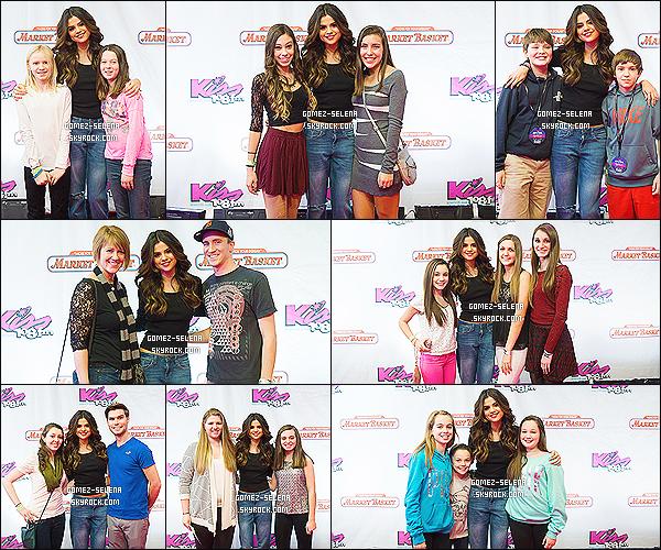 14/12/13 :  Selena était présente lors du « Jingle Ball 2013 » de la radio KISS 108 FM, qui se déroulait à Boston.  En arrivant là-bas, Sel a fait un Meet&Greet avec les fans sur place, donné un interview à la radio puis a encore une fois performé !