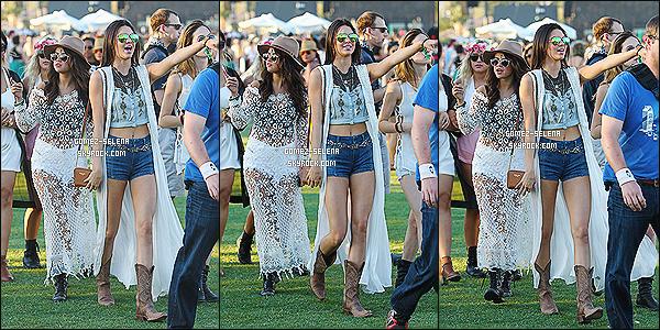 11/04/14 : C'est en compagnie de Kendall et Kylie, que Selena arrivait au festival « Coachella 2014 » dans Indio !   Avec elles deux amies de Kylie (dont Jordyn) étaient présente. Apparemment, Sel passe de plus en plus de temps avec les s½urs Jenner.