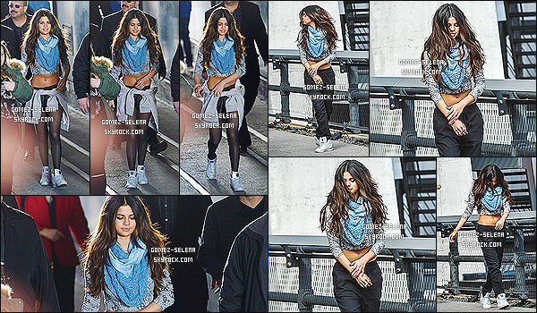 11/03/14 :  Selena a été aperçu à New-York City en pleine session photoshoot pour la collection Neo Adidas.  Sur les clichés on peut apercevoir plusieurs tenues, et donc de nouveaux éléments de la prochaine collection. Tu aimes bien, ou pas ?