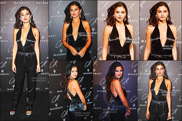 . 30/09/2014 :  Selena G. était à la « CR Fashion Book Issue No.5 : Launch Party hosted  » à Paris. La soirée a eu lieu dans le Peninsula Hotel. D'autres célébrités et amis de S. étaient présents comme  Cara Delevingne, Justin Bieber et d'autres. .