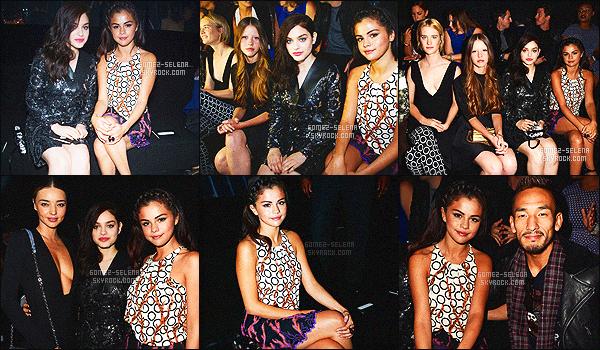 . 01/10/2014 - Toute belle Selly Gomez présente au défilé « Louis Vuitton » à la Fashion Week, Paris. Nous la voyons tout d'abord  arrivant - Puis en assistant au défilé et nous retrouvons Selena dans les coulisses cliquez ici: photo, qu'en pensez-vous ?! .