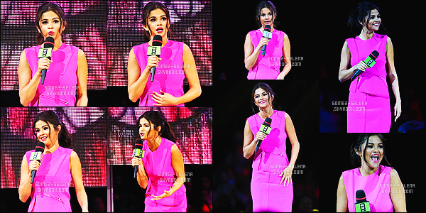 22/10/14 : Selena Gomez,  était présente à l'événement annuel: We Day Vancouver, se passant à Vancouver ! Sel' était présentatrice à cet nouvel événement annuel pour We Day. Elle est trop mignonne dans cette petite robe rose, son make-up est top!