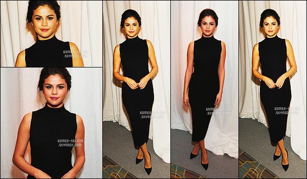 - 05/12/14 :  Selena en train d'assister  au March Of Dimes Celebration Of Babies, se déroulant à Los Angeles. C'est vêtue de noir que la Gomez était à cette événement. Je trouve la robe très jolie et très simple mais plus de couleurs dans sa tenue serait bien ! -