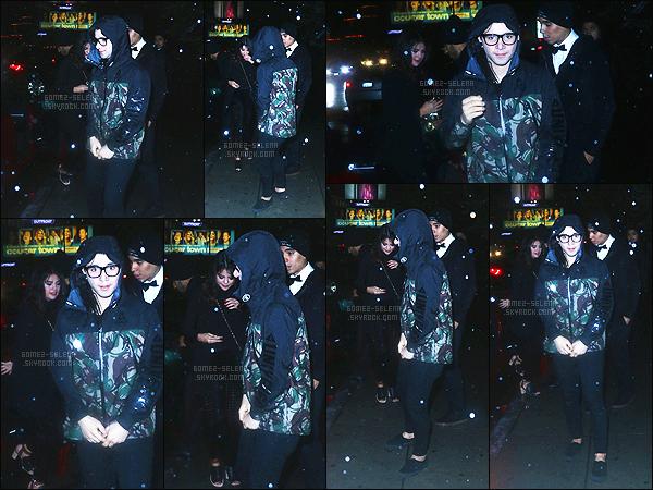 - 10/01/15 : Tard le soir Selena Gomez quittait le Chateau Marmont en compagnie de Skrillex, à West Hollywood. Deuxième sortie de l'année, non pas tant attendue ! Toute vêtue de noire, c'est néanmoins selon moi, un top pour sa tenue. - Toi qu'en penses-tu ?! -