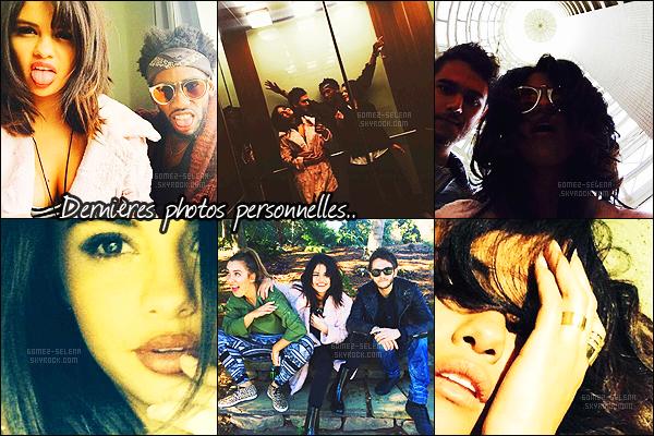- Découvrez les dernières photos Instagram postées par Selena et ses amis ! Actuellement à Atlanta en Géorgie pour le tournage de son nouveau film, Selena Gomez n'en reste pas moins active sur les réseaux sociaux.+ Enjoy it ! -