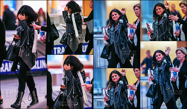 - 09/02/15 : Selena Gomez, toute fatiguée, a été photographiée en arrivant à l'aéroport de Atlanta - en Géorgie. Eh oui, enfin une nouveauté ! On l'attendait depuis un moment après la dernière actualité sur la plateau de tournage. Qu'en penses-tu de sa tenue ?! -