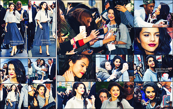 . 28/09/15 - Selena Gomezquittait son hôtel de résidence dans Paris, puis s'est rendue au studio de NRJ. En pleine promotion pour son nouvel album Revival, Selly ne cesse d'enchaîner les sorties, avec des tenues aussi splendides les unes que les autres ! .