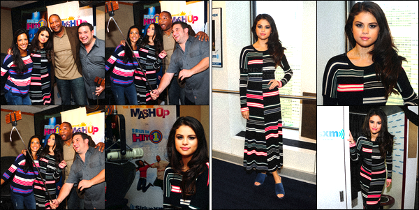 . 12/10/2015 - Selenas'est rendue dans les studios de la radio américaine- «Sirius Radio», àNew York. Après son passage télévisé sur la chaîne NBC sur le plateau télé au The Today Show - Selena a rendu visite a la radio pour y donner une interview. .
