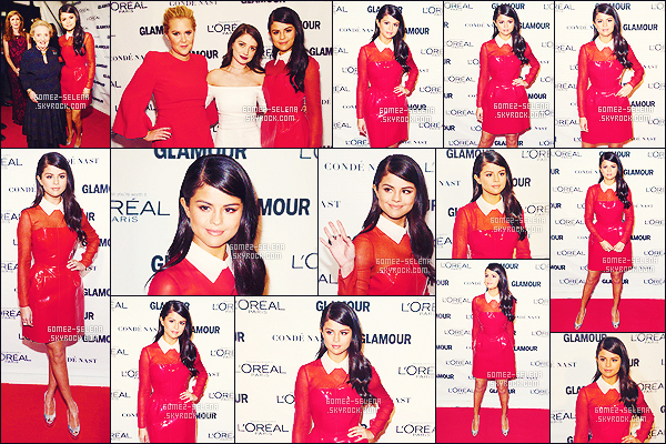 . 09/11/2015 - S. Gomez pendant le «  Glamour Women of The Year 2015 » qui a eu lieu à New York ! Hm si Gomez nous faite des TOP d'habitude, je ne saurais quoi dire de cette tenue qui à vrai dire est spéciale. Essaye-t-elle un nouveau style ?  .
