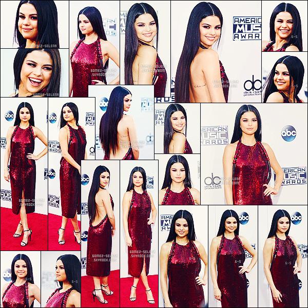 . 22/11/2015 - Selly pendant la cérémonie des « American Music Awards »,qui a eu lieu à Los Angeles !  Ensuite celle-ci s'est rendue à l'after-party organisée par le célèbre Justin Bieber qui en passant est son ex. Selena était sublime, comme toujours. .