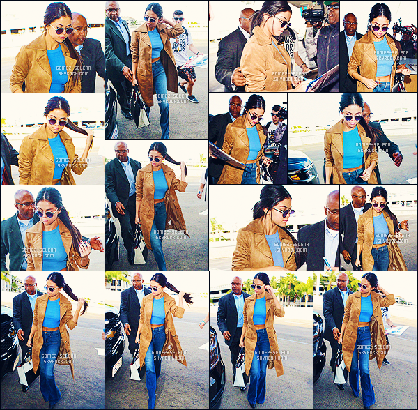 . 24/11/2015 - Selena arrivant à l'aéroport LAX à Los Angeles, pour embarquer direction le Texas.  .