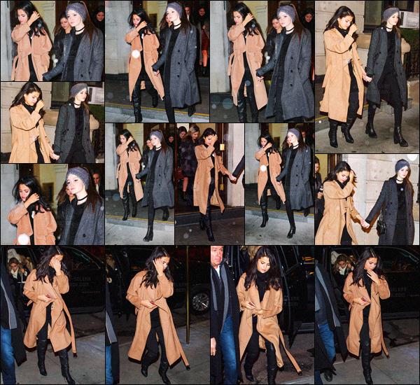 - 22/01/16 - Selena Gomez quittait un bâtiment avec son amie  Megan Puleri, dans la ville de New-York !Selena portait sa fameuse paire de Jimmy Choo nommée Giselle, pour une valeur de 1,525$ ainsi qu'un très long manteau de couleur camel. Avis ?-