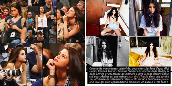 - 06/02/16 - Selena assistait à un match de basket opposant les Spurs au Lakers dans la ville de San Antonio De retour dans sa ville natale au Texas Selena a pris plaisir à assister à l'un de ces fameux match de basket. Une sportive dans l'âme miss Gomez ?-