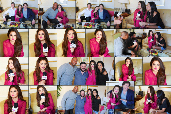 - 12/02/16 - Selena Gomez était présente au « The Morning Mash Up » de la radio SiriusXM à Beverly Hills, CALa belle portait une combinaison rose du créateur Prabal Gurung avec des sandales à talons hauts du créateur Roger Vivier ! Un ensemble sublime !-