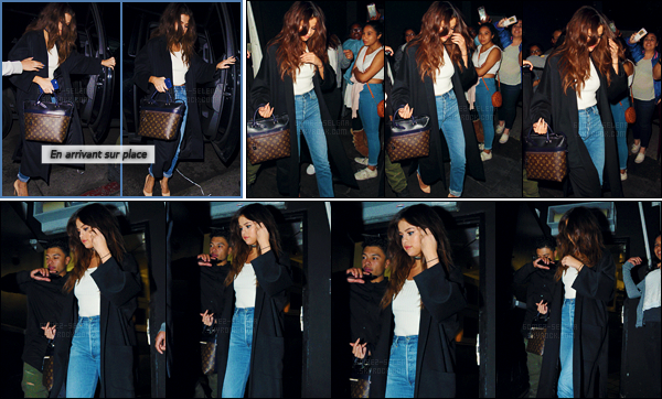 - 03/04/16 - Plus tard le soir, Selena Gomez arrivait au bar branché « The Nice Guy » à West Hollywood, en CA ![/s#00000ize]Sel a troqué sa combinaison pour un jeans de style boyfriend avec un simple débardeur blanc accompagné d'une longue veste noire. T'aimes bien ?  -