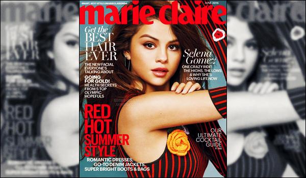 - ─ Découvrez de tout nouveaux clichés pour le magazine « Marie Claire » pour l'édition de juin avec Gomez ! [/s#00000ize]Après deux clichés tout récemment dévoilés sur la toile - voici d'autres photos issues du même photoshoot. Qu'en penses-tu des nouveaux clichés ? -