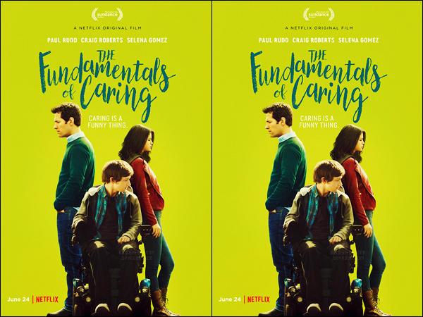 - ─ Découvrez enfin l'affiche officielle du film : « The Fundamentals of Caring » avec notre Selena Gomez ! [/s#00000ize]Le film sera disponible au visionnement dès le 24 juin prochain sur la plateforme Netflix ! Celui-ci est d'une durée de quatre-vingt-douze minutes ... -