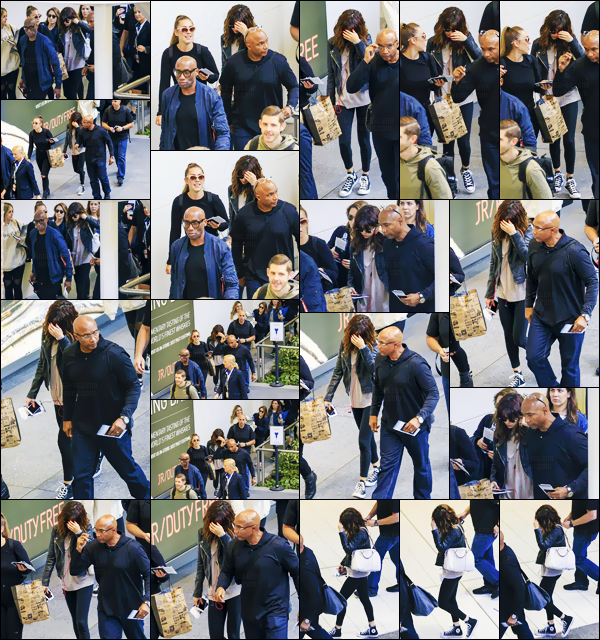 - 12/08/16 - Miss Selly Gomez prenait à nouveau un vol à l'aéroport international de « Brisbane » en Australie ![/s#00000ize]Une tenue rock et décontractée est de mise ! Ça fait toujours plaisir de voir les nombreuses sorties qui se succèdent - surtout avec des beaux top... -