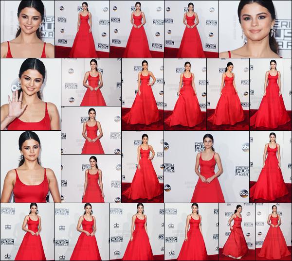 - 20.11.16'─'Selena Gomez prenait la pose sur le carpet des « American Music Awards » au Microsoft Theater[/s#00000ize]C'était le grand retour de Selena et lors de la remise de son prix, meilleure artiste pop, et elle a touché tout le monde avec son discours émouvant ... -