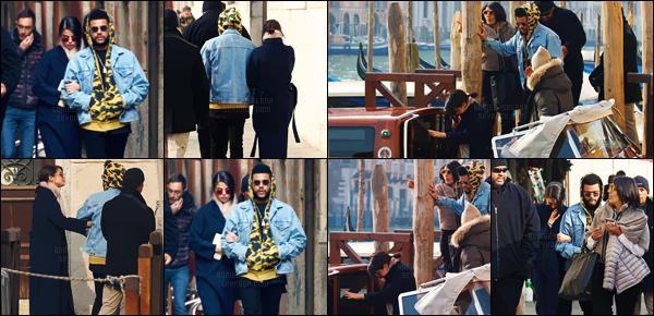 - 30.01.17'─'Selena Gomez se proemenait dans la ville de Venice avec son boyfriend Abel Tesfaye, en Italie ![/s#00000ize]Le couple est ensuite monté dans un bateau avec leurs amis, pour faire le tour de Venice. Le lendemain, ils ont pris un bateau en quittant l'hôtel... -