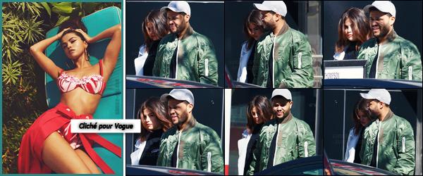 - ''16.03.17'-''─''Selena Gomez quittait son hôtel « The Thompson » en compagnie de son boyfriend dans Toronto ![/s#00000ize]Les amoureux ont d'ailleurs été photographiés après avoir fait du shopping le même jour, donc en vacances dans le pays natal du chanteur Abel Tesfaye. -