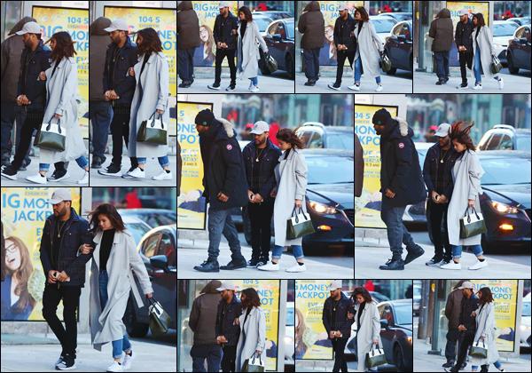 - ''16.03.17'-''─''Selena Gomez se dirigeait vers le restaurant « Blowfish » avec Abel Tesfaye dans Toronto, Ontario.[/s#00000ize]Après avoir été aperçus en train de faire du shopping, les tourteraux s'en allaient au restaurant et sake bar - avec le garde du corps de The Weeknd ... -