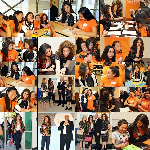 - ''23.03.17'-''─''Selena Gomez était présente à l'événement « Step Up with Coach » qui avait lieu dans Los Angeles[/s#00000ize]C'est bien connu, SG s'implique dans plusieurs causes et aujourd'hui elle le prouve encore une fois - son grand c½ur et sa générosité est sans limite ... -
