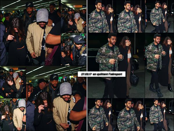 - ''25.03.17'-''─''Selena Gomez arrivait à l'aéroport international « Guarulhos » de São Paulo avec Abel, au Brésil ![/s#00000ize]Le passage hors de l'aéroport a été très difficile pour le couple ... Heureusement le staff d'Abel et lui-même, ont veillé à la sécurité de notre Selena. -