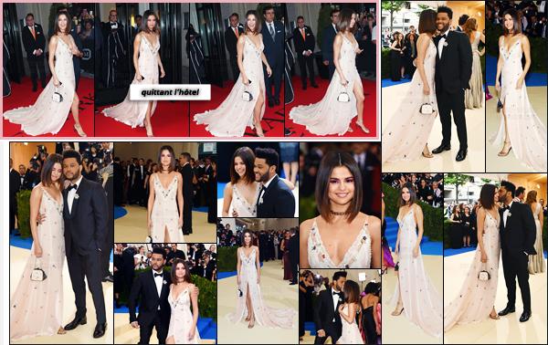 - ''01.05.17'-''─''Selena Gomez était présente lors du « MET Gala » au Metropolitan Museum of Art de New York ![/s#00000ize]Selena G. était plus que ravissante, lors de cette soirée. Pour notre plus grand plaisir, cette dernière a pris la pose avec son amoureux Abel Tesfaye. -