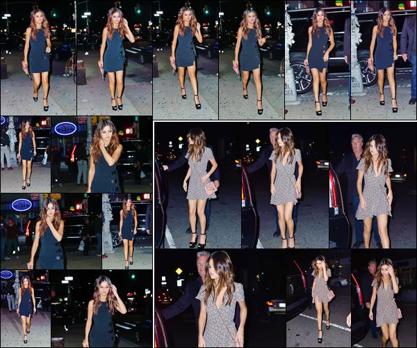 - ''03.06.17'-''─''Selena Gomez arrivait en soirée, au restaurant et brasserie « Park Side » dans New York City ![/s#00000ize]Le même soir la belle américaine a été aperçue déambulant dans les rues de la ville dans une tenue différente. L'actualité de Selena Gomez bat son plein.  -