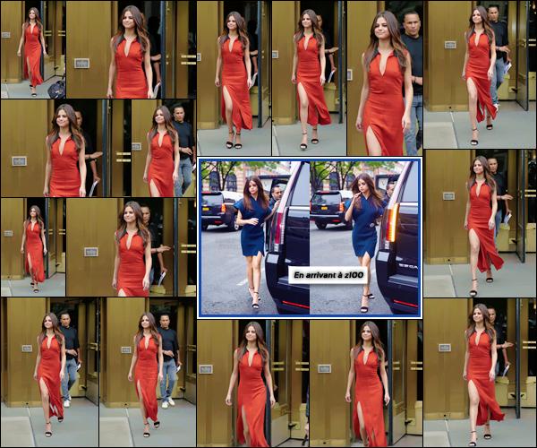 - ''05.06.17'-''─''Selena Gomez quittait la radio musicale nommée « Z100 » près une interview à New York City[/s#00000ize]Il semblerait que Selena soit à New York pour (enfin) faire la promotion de son nouveau single. Deux tenues différentes en entrant et quittant la radio ...  -