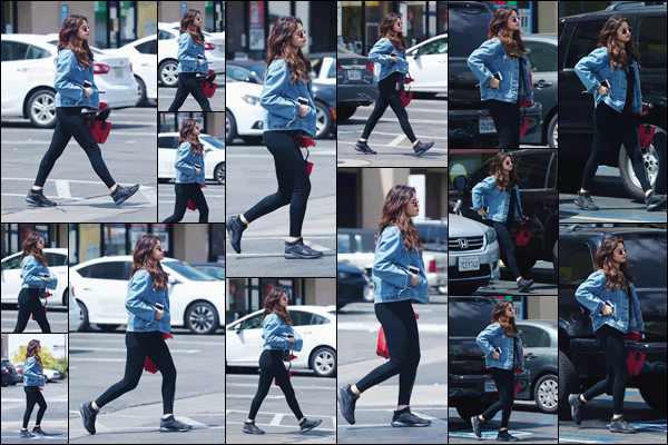 - ''11.06.17'-''─''Selena Gomez a été aperçue en quittant le magasin de grande surface « GNC » à Los Angeles ![/s#00000ize]C'est dans le parking du grand magasin, que Selena a été photographiée, sûrement pour rejoindre sa voiture. C'est un petit top pour la tenue de Selena. -