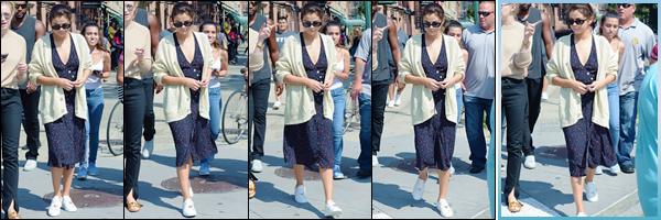 - '-05/09/17-'''✈''Selena Gomez s'est rendue au restaurant chinois de « Uncle Ted's », dans la ville de New York. Cette fois-ci la jolie brunette a opté pour une légère robe à pois blanc, lors de son énième escapade dans la ville de New York, mais cette fois toute seule.-