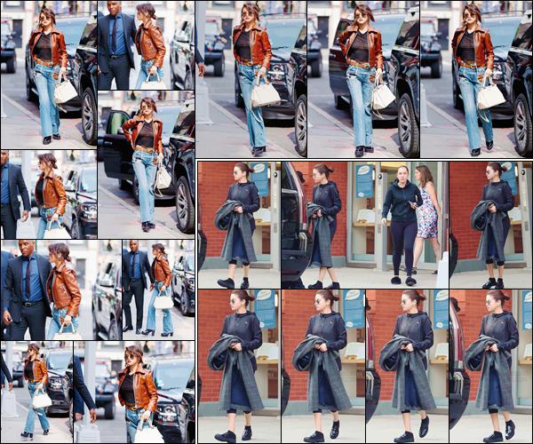 - '-12/09/17-'''✈''Selena Gomez se rendait au défilé de la marque « Coach » à la Fashion-Week 18 de New York. Dans la même journée, Selena a été photographiée alors qu'elle quittait son appartement en compagnie de sa très bonne amie : Theresa Marie Mingus !-