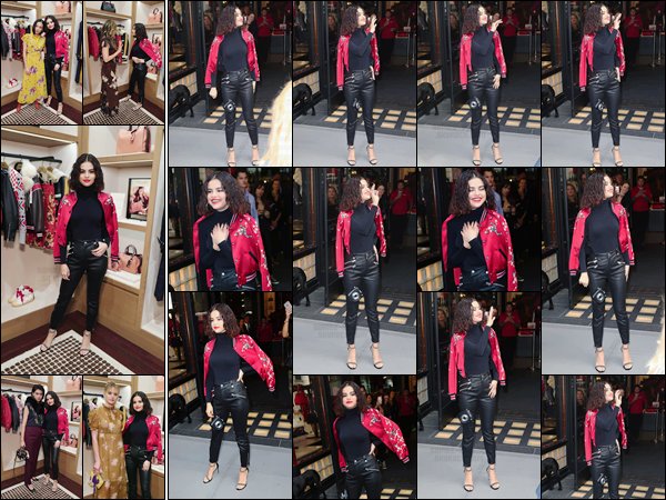 - '-13/09/17-'''✈''Selena Gomez arrivait à la boutique de sac à main « Coach House » à la 5e Avenue de New York. À l'occasion de l'événement de lancement ''Selena Gomez x Coach'' la belle a donné un Meet&Greet avec les fans ! Puis S. est rentrée à son appartement. -