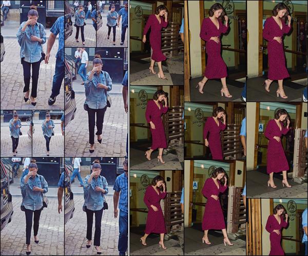 - '-27/09/17-'''✈''Selena Gomez quittait le restaurant japonais « Sushi Seki » en soirée, toujours dans New York. Selena a été photographiée avant en revenant à son appartement, après avoir passé sa journée sur le tournage de son film. De mon côté, c'est deux top.-