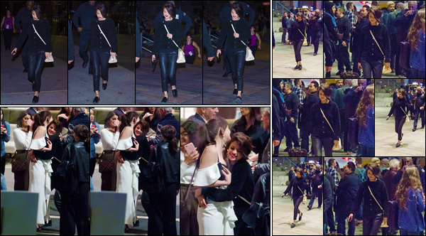 - '-03/10/17-''''✈''Selena Gomez quittait le « 55th New York Film Festival » qui se tenait, bien sûr, à New York. Selena a été photographiée en compagnie de l'actrice Dakota Johnson, avec qui elle semble assez complice et proche. J'accorde un petit top à Selena !-