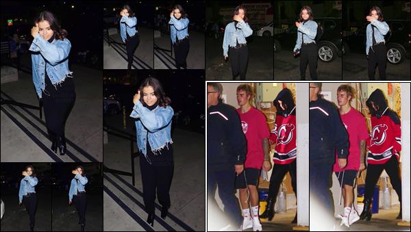 '- '- 01/11/17 -'''◊''Selena Gomez arrivait à l'aréna des « Los Angeles Kings Valley Ice Center », à Panorama City ! Selena était bien évidemment en compagnie de Justin Bieber, qui a d'ailleurs patiné sur la glace le même soir. Ces deux-là ne se lâchent visiblement plus.-