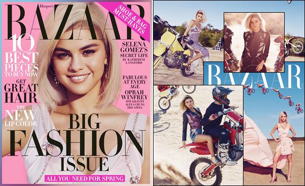 - ▬ Selena Gomez fait la couverture du « Harper's Bazaar » pour l'édition du mois de mars '18 !-
