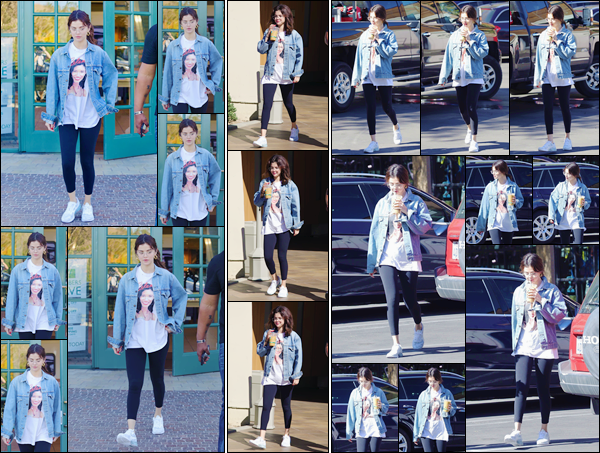 '- '-◊-08/02/18-' : 'Selena Gomez quittait le café « Greenware » avec son amie Theresa Mingus dans Los Angeles. Apparemment notre belle brune se serait entre-temps rendue à un meeting d'affaire le même jour. Elle portait un t-shirt à l'effigie de Selena Quintanilla !-