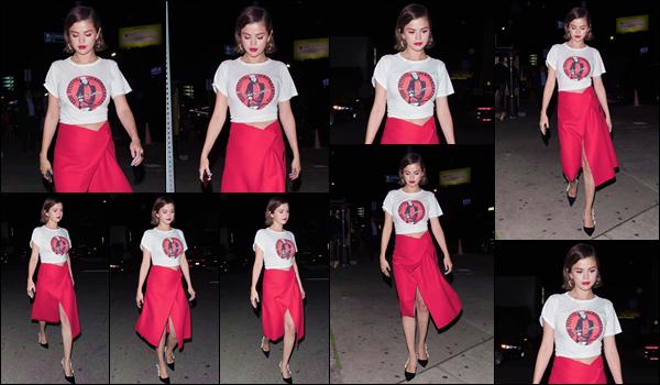 '' '''24/03/18-' • Selena Gomez quittait le restaurant « The Nice Guy » situé dans le quartier de West Hollywood. Après avoir participé à la marche en compagnie d'une amie et de Bella Thorne, Selena s'est rendue en soirée au restaurant. Un gros top !-