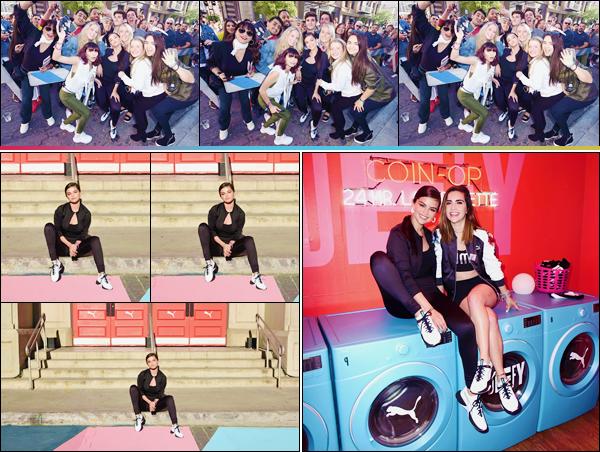 - ''•-16/05/18-' : Selena Gomez était présente lors du « Selena Gomez x Defy City » pour PUMA dans Los Angeles. Selena Gomez s'est rendue à Londres, pendant quelques jours, suite à son passage dans la ville de New York... Un petit top pour sa tenue signée Puma ! -