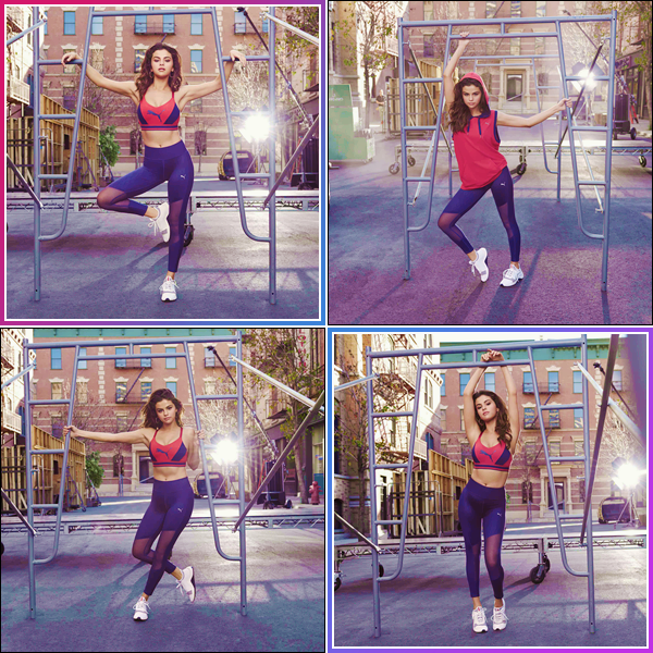 - '-PUMA ●- Selena Gomez prend la pose pour la nouvelle collection « The AMP XT » pour Puma en 2018. -