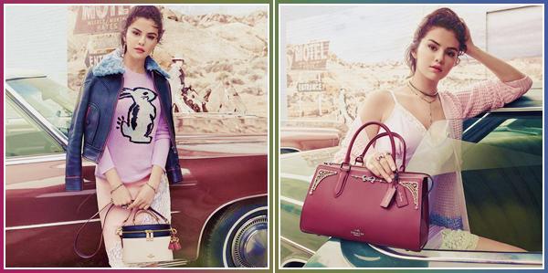 - '-COACH ●- Selena Gomez prend la pose pour la collection « Selena Gomez x Coach » en 2018 ! -
