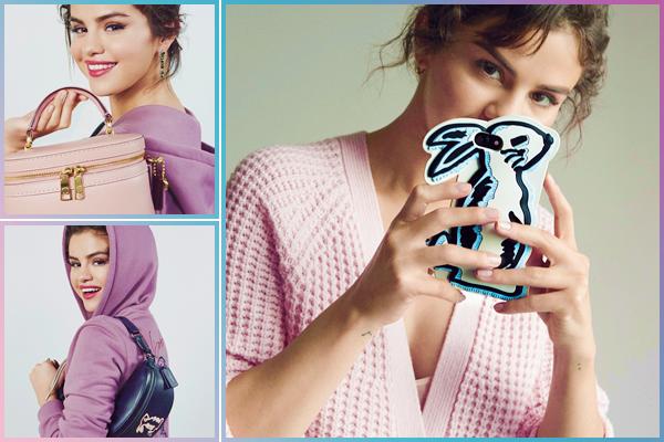 - '-COACH ●- Découvrez de nouvelles photos pour la collection « Selena Gomez x Coach » de 2018. -