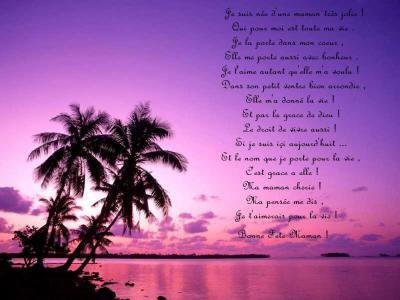 Poeme Damour Pour Ma Maman Cherie Que Jaime De Tout Mon